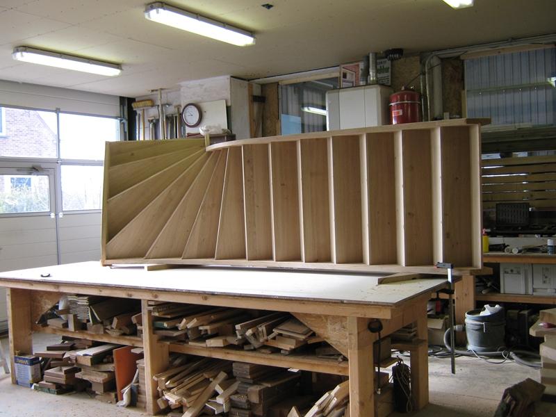 Timmerwerkplaats for Kwart trap